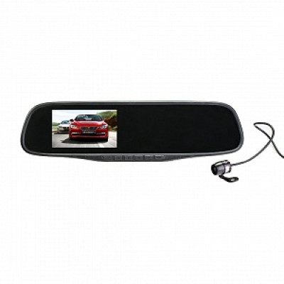 Видеорегистратор в зеркале заднего вида и камерой SilverStone F1 NTK-351Duo