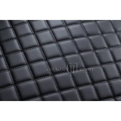 Автомобильный коврик в багажник 3D Люкс черный с черной строчкой