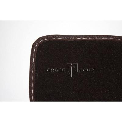 Дополнительный ворс текстильный коричневый гладкий