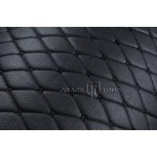 Автомобильный коврик в багажник 2D Премиум черный с черной строчкой