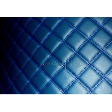 Автомобильный коврик в багажник 2D Люкс синий