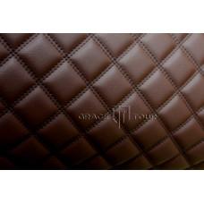 Автомобильный коврик в багажник 2D Люкс темно-коричневый