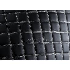 Багажник 2D Люкс черный с белой строчкой