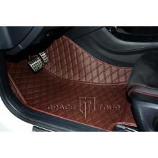 Автоковрик Престиж 3D коричневый с коричневой строчкой