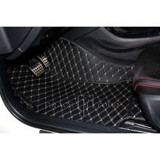 Автоковрик Престиж 3D черный с белой строчкой