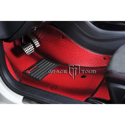 Автоковрики Экзотик 3D красный
