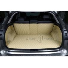 Автомобильный коврик в багажник 3D Премиум бежевый