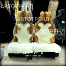 """Меховые накидки из меха ЛИСА+ОВЧИНА """"Эксклюзив"""" (Белый)"""