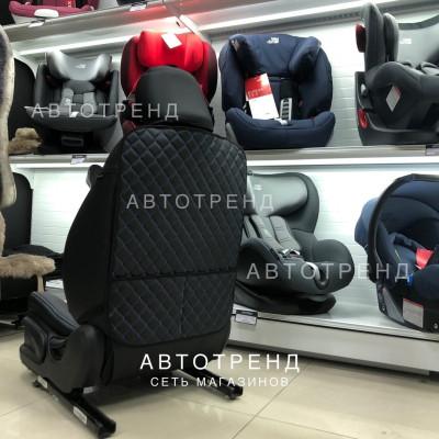 Защитная накидка на спинку сиденья/Чёрный+Синий