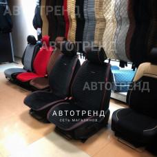 Накидки на сиденье Премиум АВТОТРЕНД черный/красный