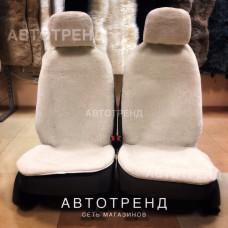 Накидки из овечьей шерсти (Белый)/антискольз. / Весь салон