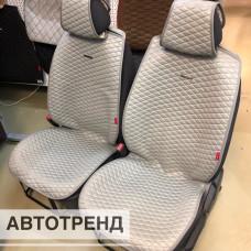 Накидки на сиденья из ткани Ромб АВТОТРЕНД серый