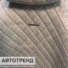 Накидки на сиденья Ромб АВТОТРЕНД т.серый (весь салон)