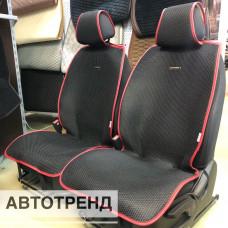 Накидки на сиденья АВТОТРЕНД черный/красный