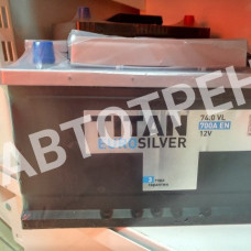 Аккумулятор автомобильный Titan Euro Silver 74 Ач Обратная полярность