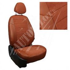 Чехлы на сиденья из матовой экокожи/алькантары АВТОПИЛОТ (Коричневый+Коричневый)