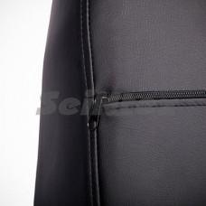 Авточехлы на сиденья из экокожи SEINTEX черный+белый