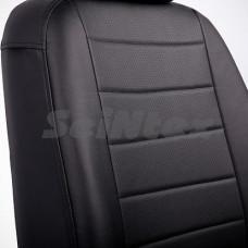 Авточехлы на сиденья из экокожи SEINTEX черный+черный