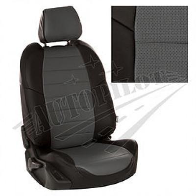 Чехлы на сиденья из матовой экокожи АВТОПИЛОТ (Чёрный + Серый)