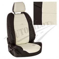Чехлы на сиденья из матовой экокожи АВТОПИЛОТ (Чёрный + Белый)