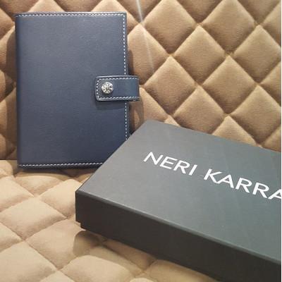 Портмоне мужское с кнопкой NERI KARRA (нат.кожа) черный