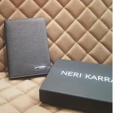 Обложка для автодокументов Neri Karra (нат.кожа) синий