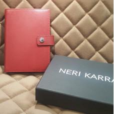 Обложка для автодокументов с кнопкой NERI KARRA (нат.кожа) красный