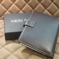 Обложка для автодокументов с кнопкой NERI KARRA (нат.кожа) темно-коричневый