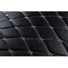 Багажник 2D Премиум черный с белой строчкой