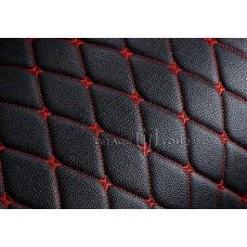 Багажник 2D Премиум черный с красной строчкой