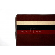 Дополнительный ворс текстильный коричневый с полосками