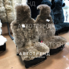 Меховые накидки из австралийской овчины (Длин.ворс - Капучино)/весь салон