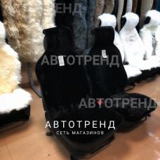Накидки из овечьей шерсти (Черный) /антискольз./весь салон