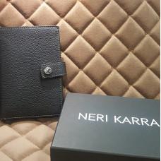 Обложка для автодокументов с кнопкой NERI KARRA (нат.кожа) коричневый