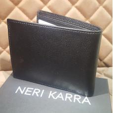 Портмоне мужское NERI KARRA (нат.кожа) черный с отд.для мелочи